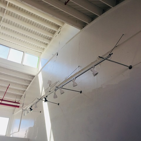 high ceilings, and track lighting Justyn Zolli Studios,  Benicia Arsenal Artists District,  Benicia CA 2018