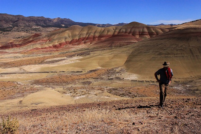 the multicolored dunes of the John Day Fossil Beds National Park, OR