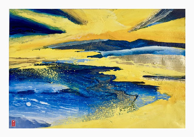 Landscape (yellow and blue)