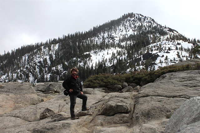 winter Alpine hiking, Sierras Desolation Wilderness CA