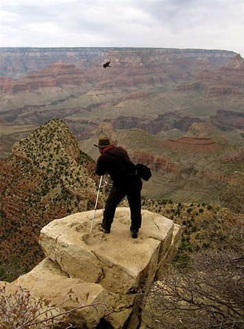 shooting photos in the Grand Canyon, Arizona