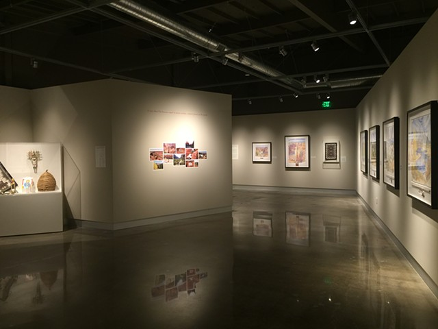 Installed paintings collection for the Tony Foster Art Museum, Palo Alto CA (c/o Gizmo Inc.)