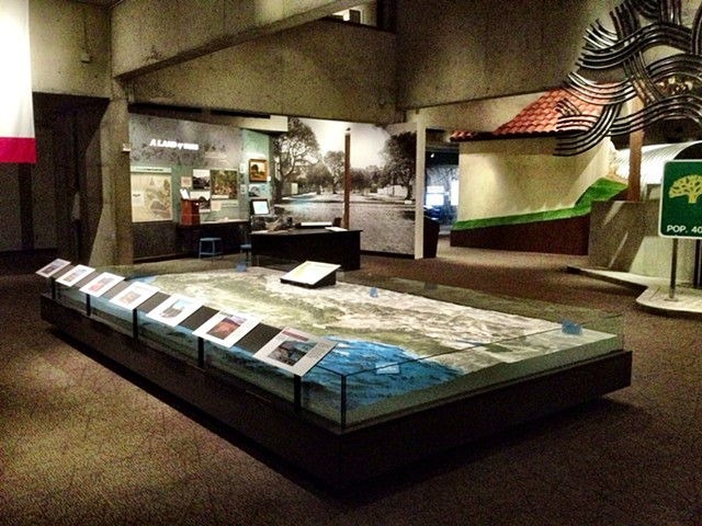 topographical exhibit and case construction,  Oakland Museum of California, Oakland CA