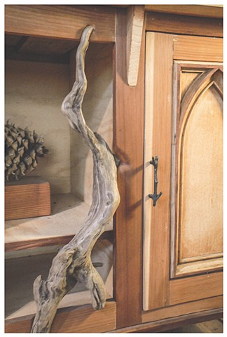 Cabinet ( detail showing driftwood)