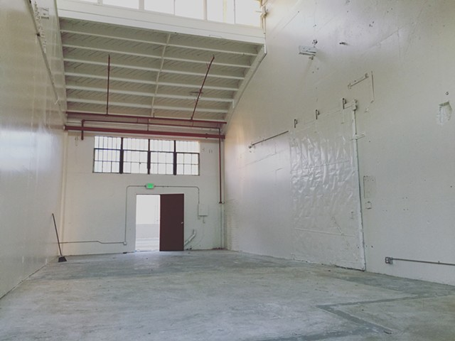 The Benicia Arsenal studio when it was raw