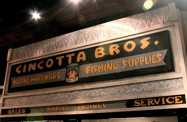 recreation and decorative painting,  'Cincotta Bros.' exhibit for National Park Service, San Francisco Maritime National Historic Park,  Visitor Center II, San Francisco CA