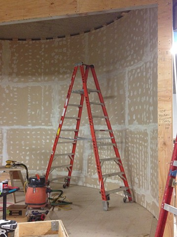 progress photo Tule Elk exhibit and permanent case construction,  Oakland Museum of California, Oakland CA Natural History dept.
