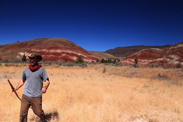 red and white dunes,  of John Day Fossil Beds National Park, OR