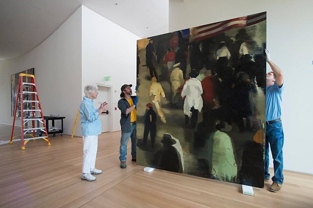Lead Installer for the Anderson Collection of American Art, Stanford University, Palo Alto CA (photo C/o SFChronicle)