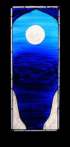 'ETERNAL' tranparency design for leaded glass window, for meditation chapel 2012