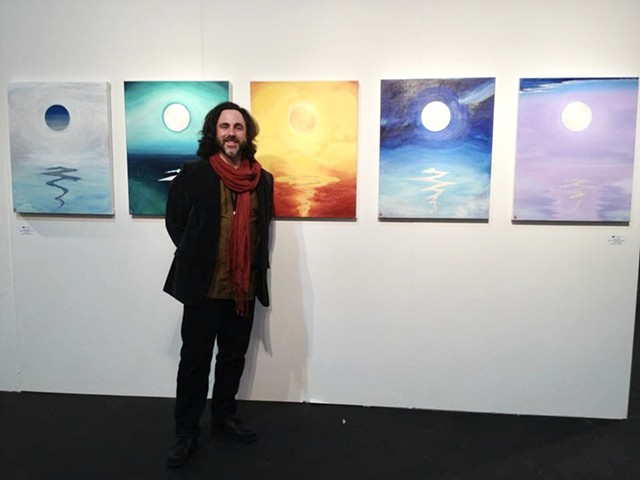 Exhibiting my Moon Over Waves series, ArtMarket SF with Gallery Sam