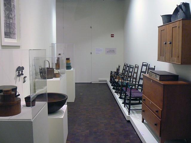 installations of Shaker furniture and artifacts, Museum of Craft and Folk Art, SF CA