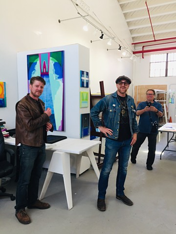 Studio visits, artists JP Long and Scott Shryver