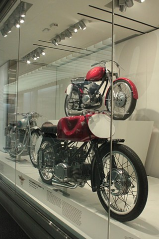 Italian motorcycles exhibit,  SFO Airport Museum, San Francisco CA mountmaking, installations, fabrication