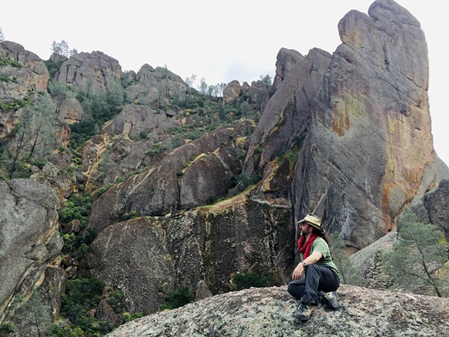 the rock spires of Pinnacles National Park, CA