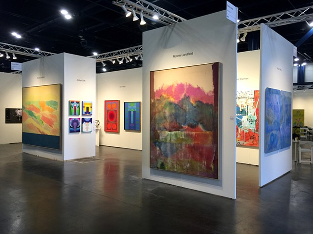 Expert professional installations of paintings and fine art at contemporary art fairs nationwide. Here I've installed  all the work for the booth of  Gallery Sam, Texas Contemporary Art Fair, Houston TX