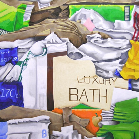 contemporary art painting, painting, new york based artist, emerging art professional, gregory beise, painter, paint, garbage, art, fine art