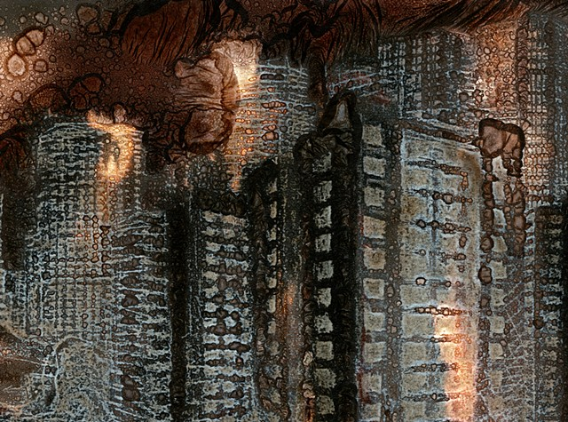 Cliché-verre with bleach-etch/ mordançage