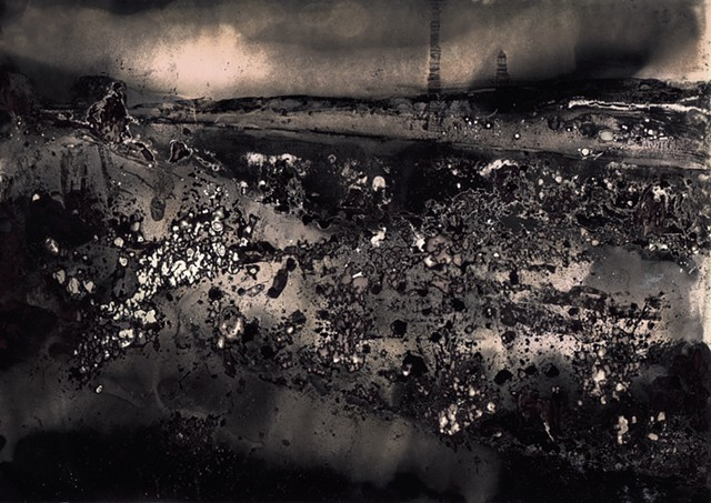 Chemigram on vintage silver gelatin paper by Eva Nikolova