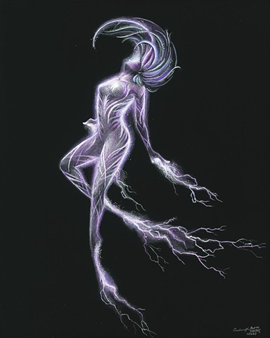 Elemental faerie dancer lightning fairy