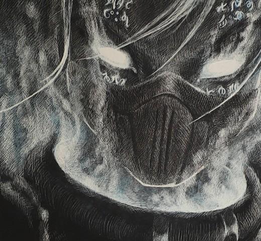 Cyber Ninja art, futuristic art, Expanse fan art, ninja assasin art, female ninja