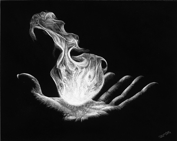 fireball in hand, hand holding fireball, flame art