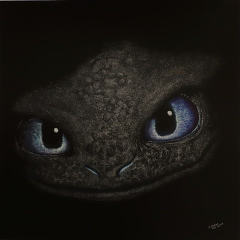 Night Fury funny dark whimsical toothless