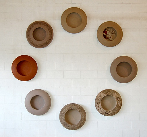 Circle of Raw Wall Plates