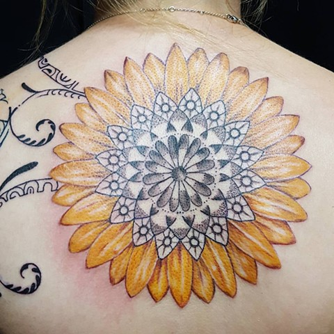 All Rights Reserved By Shauna Fujikawa Hope Tattoos & Art - Sunflower Mandala