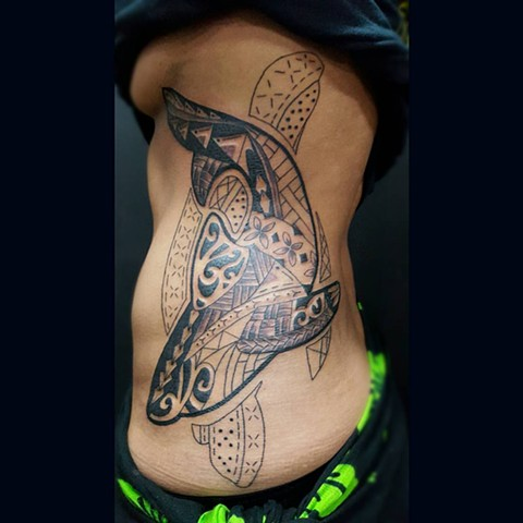 All Rights Reserved By Shauna Fujikawa Hope Tattoos & Art - Shark Turtle Tribal Tattoo
