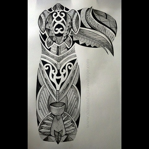 All Rights Reserved By Shauna Fujikawa Hope Tattoos and Art  - Tribal Inspired