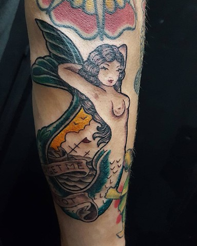 All Rights Reserved By Shauna Fujikawa Hope Tattoos & Art - Sailor Jerry Mermaid
