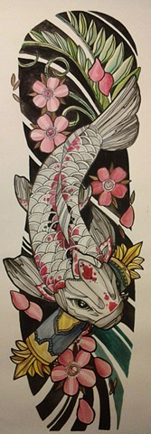 All Rights Reserved By Shauna Fujikawa Hope Tattoos & Art - Japanese Koi