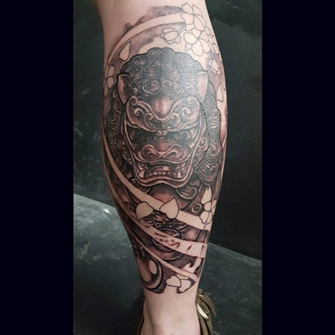 All Rights Reserved By Shauna Fujikawa Hope Tattoos & Art - Shisa Lion