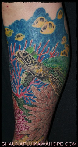 All Rights Reserved By Shauna Fujikawa Hope Tattoos & Art - Turtle and Friends