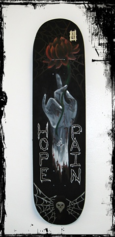 All Rights Reserved By Shauna Fujikawa Hope Tattoos & Art - Skateboard Deck for Hope 4 Pain Tattoos on Guam