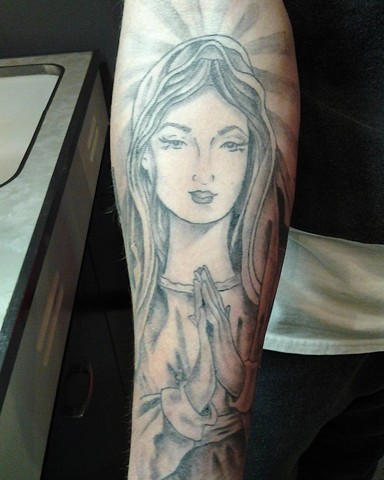 All Rights Reserved By Shauna Fujikawa Hope Tattoos & Art - Virgin Mary