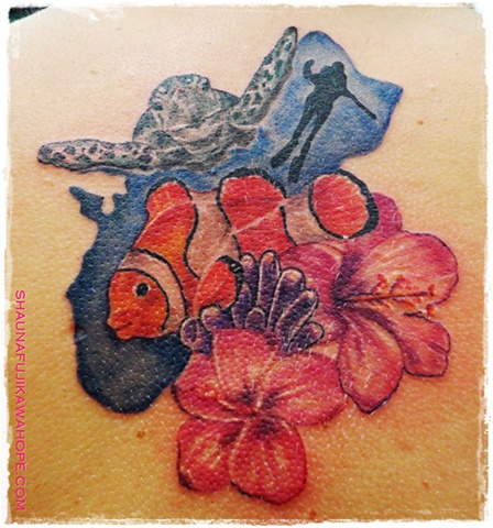 All Rights Reserved By ShaunaFujikawa Hope Tattoos & Art - Guahan and Turtle