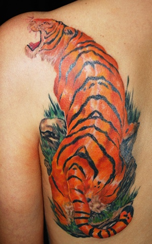 All Rights Reserved By Shauna Fujikawa Hope Tattoos & Art - Tiger