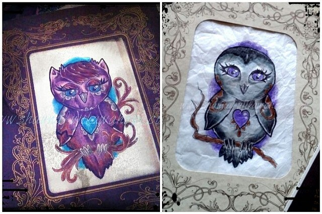 All Rights Reserved By Shauna Fujikawa Hope Tattoos & Art - Owl