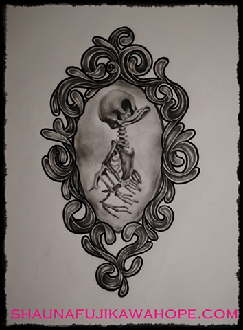 All Rights Reserved By Shauna Fujikawa Hope Tattoos & Art - Duck Skeleton