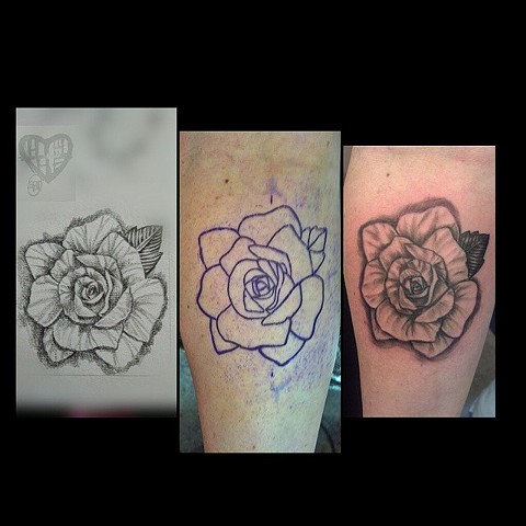 All Rights Reserved By Shauna Fujikawa Hope Tattoos & Art - Rose Drawing Tattoo