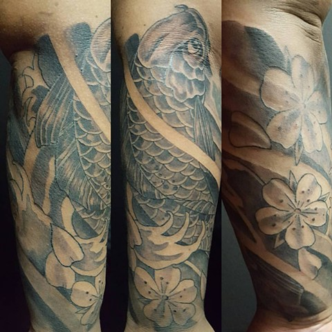 All Rights Reserved By Shauna Fujikawa Hope Tattoos & Art - Koi and Cherry Blossoms