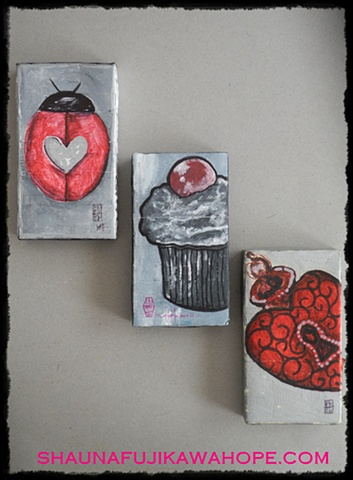All Rights Reserved By Shauna Fujikawa Hope Tattoos & Art - Ladybug Cupcake Sacred Heart