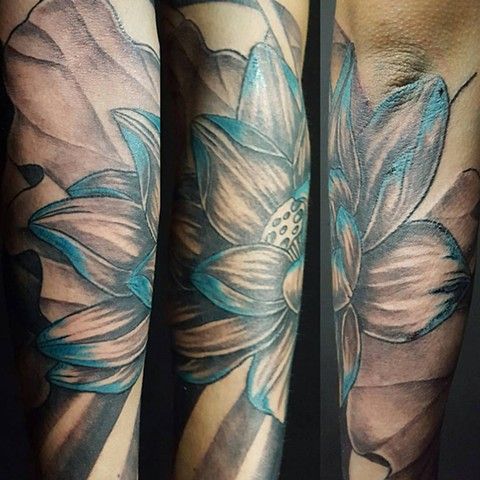 All Rights Reserved By Shauna Fujikawa Hope Tattoos & Art - Lotus sleeve