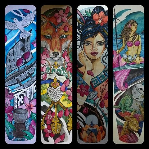 All Rights Reserved By Shauna Fujikawa Hope Tattoos and Art  - Tattoo Sleeve Layouts