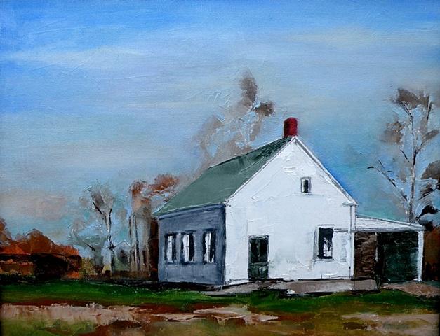 Sunlight on Farmhouse