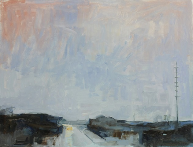 Highway painting by Cynthia Guild of route 95 ct usa