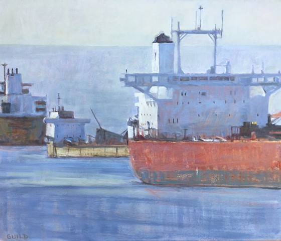 freigther painting, paintings of ships