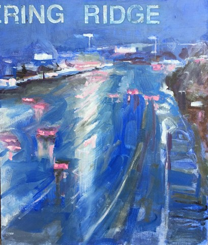 At Metering Ridge exit, traffic cameras paintings,surveillance cameras